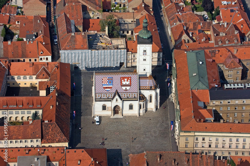 St Mark square in Zagreb capital of Croatia