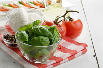 Classic caprese ingredients