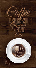 Poster coffee lettering Drink good coffee