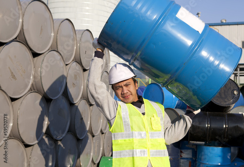 Strong man factory worker