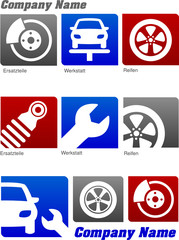 Autowerkstatt-Icon-Set