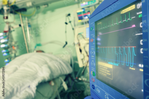 Monitoring of the patient in hospital