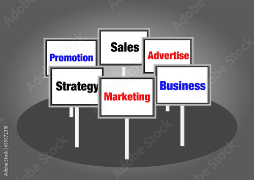 Marketing concept signs