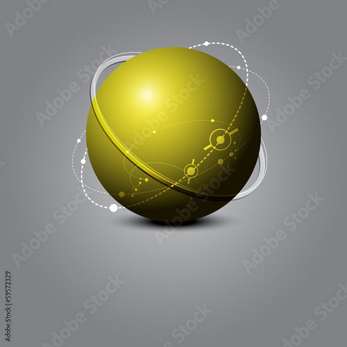 abstract sphere science concept