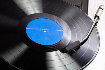 Vinyl on a gramophone