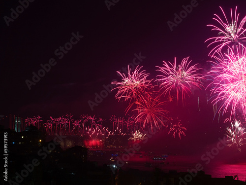 The Celebration of Turkish Republic Day with Fireworks