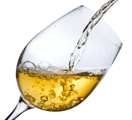 White wine ,saved clipping path