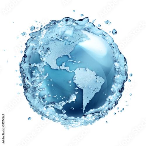 Leinwanddruck Bild water recycle in world Usa