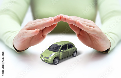 safety your car - hands covering