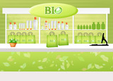 illustration of bio shop