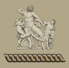 Antique statue - Laocoon illustration