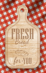 Poster  light color  lettering Fresh bread for you
