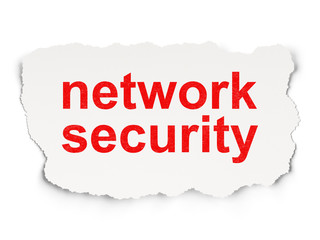 Security concept: Network Security on Paper background