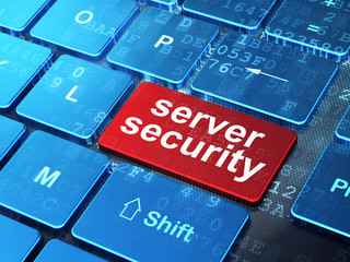 Safety concept: Server Security on computer keyboard background