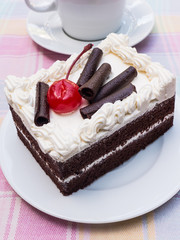 piece of a black forest cake.