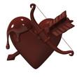 Heart-ShapedChocolateWhichBowAndArrowIsStuck