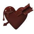Heart-ShapedChocolateWhichArrowIsStuck