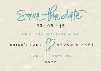 Hand-written Save the Date