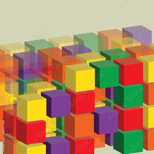 3D Cubes Background Template