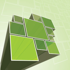 Abstract Transparent Green Prism Background Vector