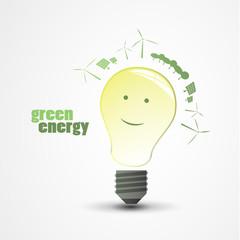 Green Energy - Eco Concept Illustration