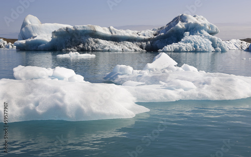 Iceland. Southeast area. Jokulsarlon. Icebergs and lake. © h368k742