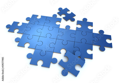 Blue blank puzzle