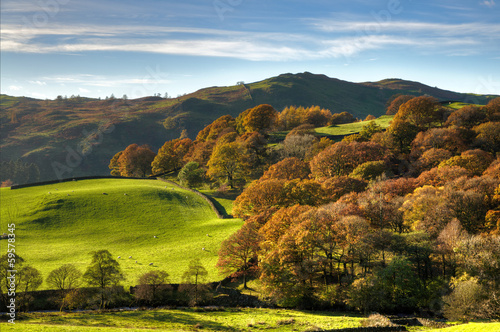 English rural scene with autumn colours