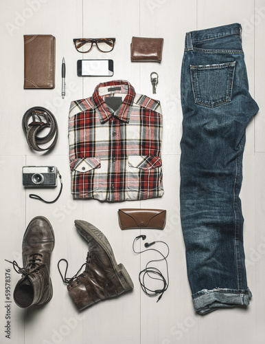 Overhead of essentials modern man.