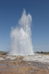 Iceland. South area. Golden Circle. Strokkur geyser. 13/13 movem