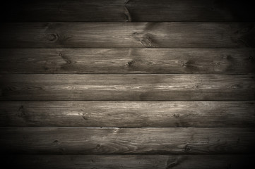 Spotlight on Dark Wooden Wall