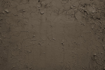 Brown Cracked Concrete Wall