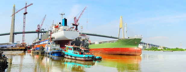 Shipyard in Bangkok