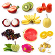 Set of organic fruit, Fruit isolated