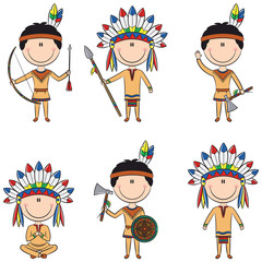 American Native Costume Boys