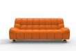 Orange Sofa Front View