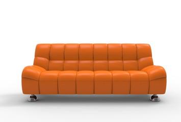 Orange Sofa Front View