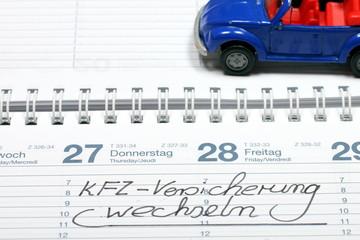 KFZ Versicherung wechseln kalender