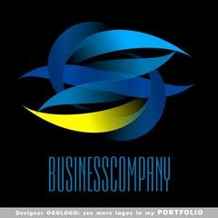 abstract business logo emblem vector