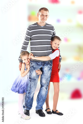 Portrait of beautiful smiling happy family
