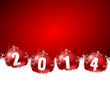 2014 new years illustration with christmas balls