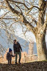 Mère et fils à Venon au dessus de Grenoble