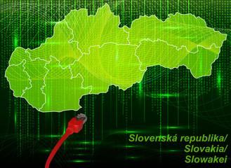 Slowakei mit Grenzen im neuen Netzwerkdesign