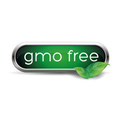 GMO free label or button