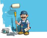 Handyman - Wall Painter Blue Uniform