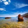 Denia Alicante Las rotas rocky beach in Spain