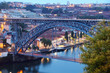 Постер, плакат: Dom Luis Bridge Ponte Luis I Porto Portugal