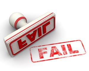 Fail (неудача). Печать и оттиск