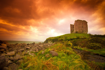 Irish Castle at sunset