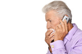 Elderly man calling to the doctor